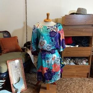 Kimono-style floral Bisou Bisou dress